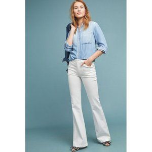 nwt paige petite genevieve high-rise flare jeans